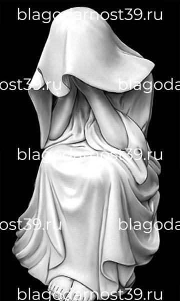Гравировка: ангел - бесконечная скорбь