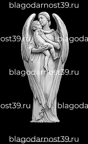 гравировка: ангел с младенцем