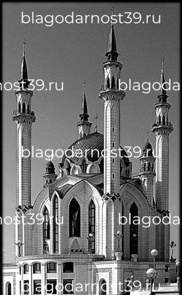 Гравировка: мечеть кул-шариф