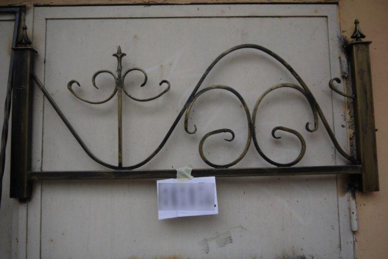 сварная металлическая оградка 1